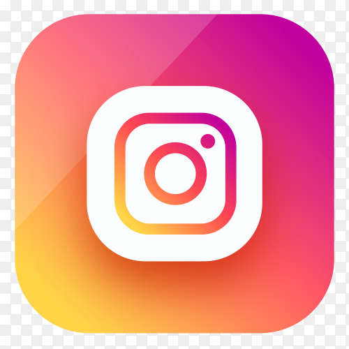 Instagram icon design in gradient colors on transparent background PNG