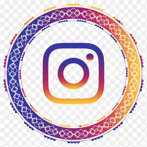 Instagram modern style icon premium vector PNG