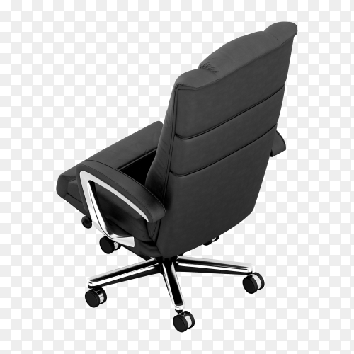 Isometric office chair isolated premium vector PNG