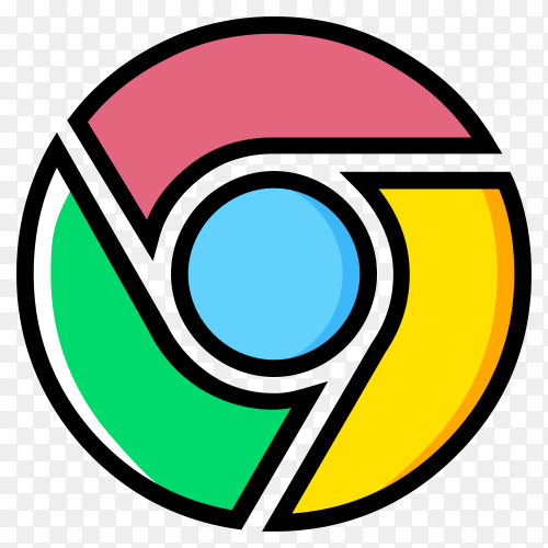 Logo google chrome premium vector PNG