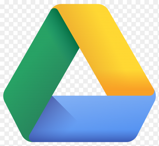 Logo google drive design illustration on transparent background PNG