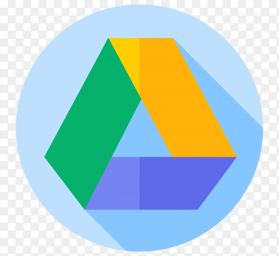 Logo google drive in flat design on transparent background PNG