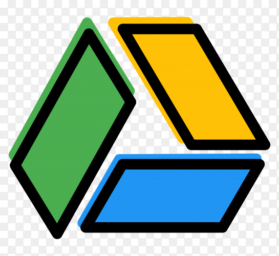 Logo google drive isolated on transparent background PNG