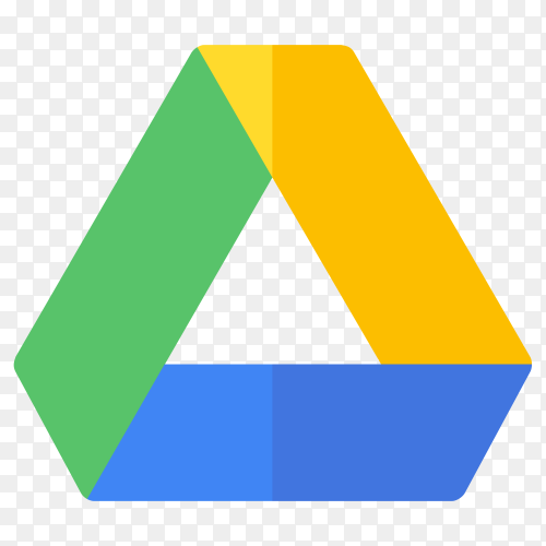 Logo google drive on transparent background PNG