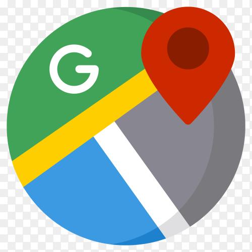 Logo google map Illustration premium vector PNG
