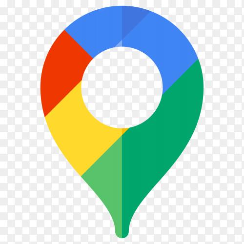 Logo google map design on transparent background PNG