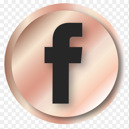 Luxury Facebook logo premium vector PNG