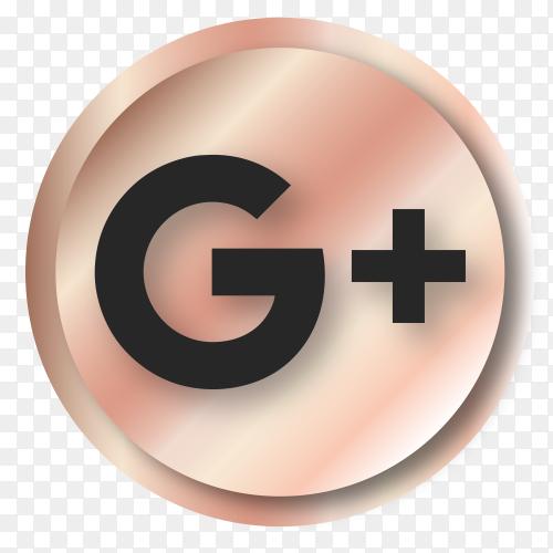 Luxury Google plus logo premium vector PNG