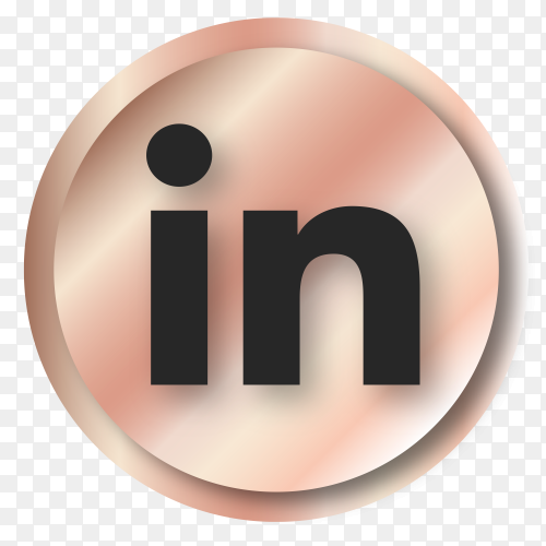 Luxury Linkedin logo on transparent background PNG