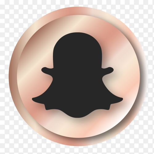 Luxury Snapchat  logo on transparent background PNG
