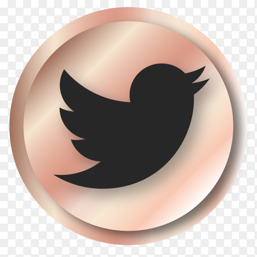 Luxury Twitter logo on transparent PNG