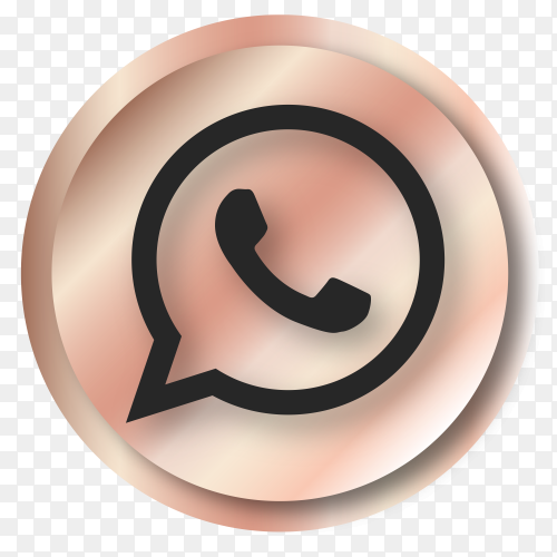 Luxury Whatsapp logo on transparent PNG