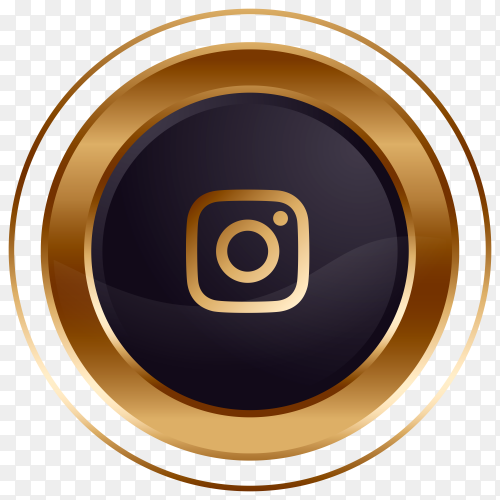Luxury golden black Instagram logo design Clipart PNG