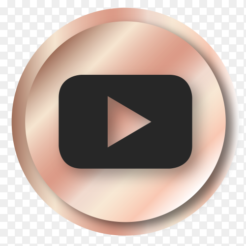 Luxury youtube logo Clipart PNG