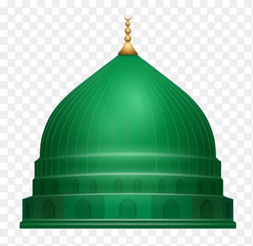 Madina-Masjid Nabawi illustration on transparent background PNG