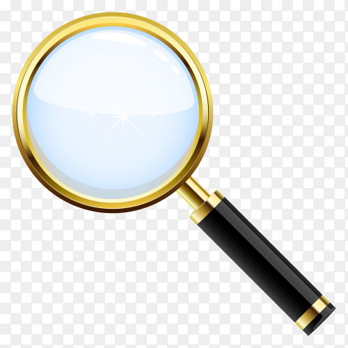 Magnifying glass icon on transparent background PNG