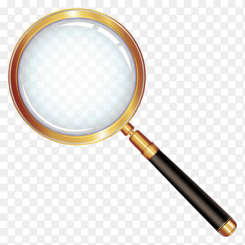 Magnifying glass isolated premium vector PNG