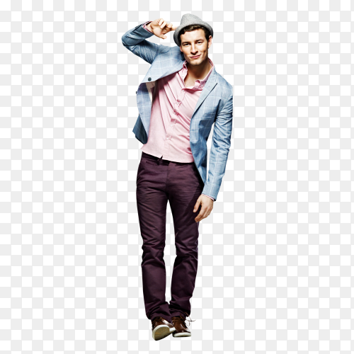 Man wearing Style Casual on transparent background PNG