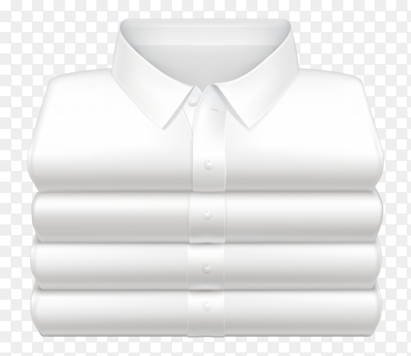 Mens white shirts on transparent background PNG