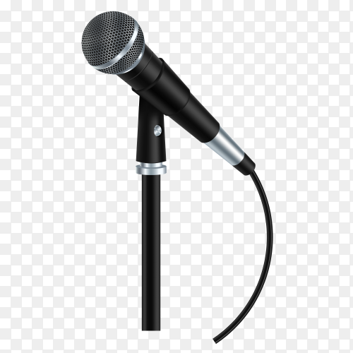 Microphone inscription karaoke party art on transparent background PNG