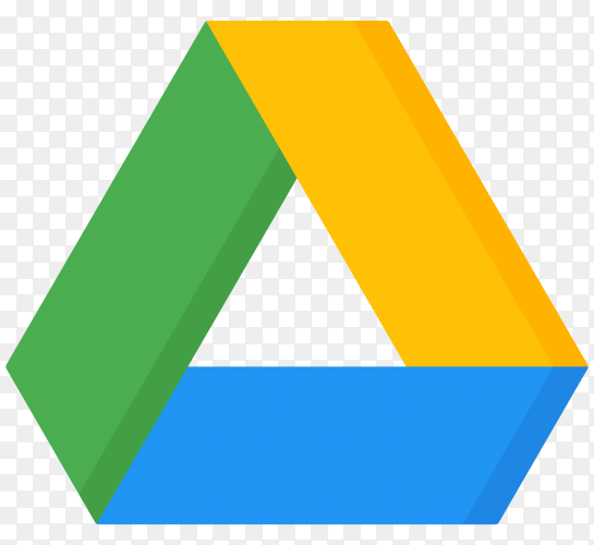 Modern google drive Logo premium vector PNG.png