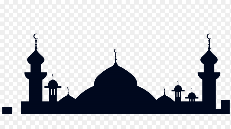 Mosque illustration on transparent background PNG