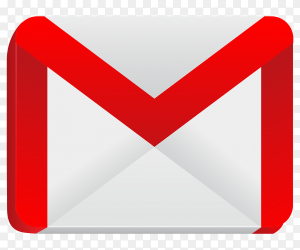 Most popular icon Gmail premium vector PNG
