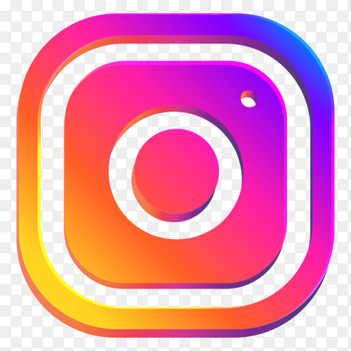 Most popular icon Instagram on transparent PNG