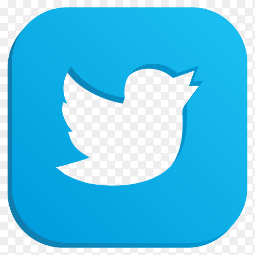 Most popular icon Twitter on transparent background PNG