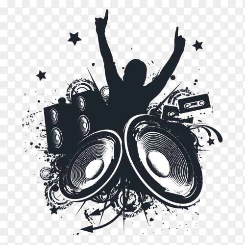 Music Hands Up Illustration on transparent background PNG