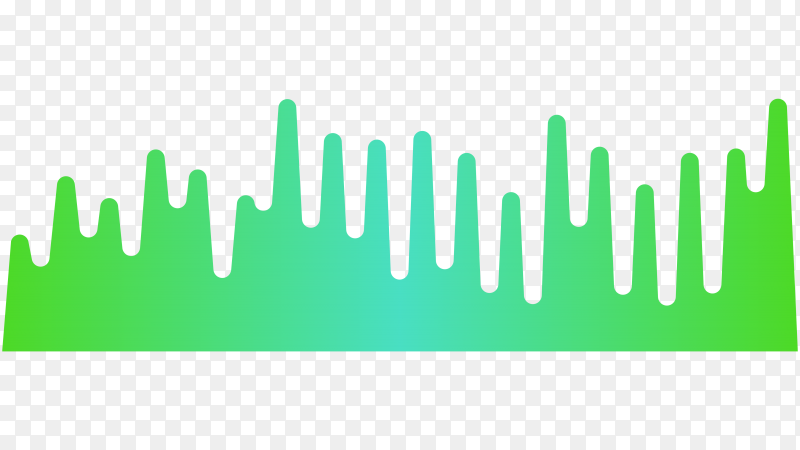 Music equalizer, audio analog waves on transparent background PNG