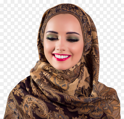 Muslim woman on transparent background PNG