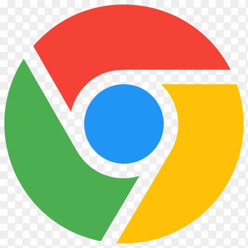 New google chrome icon design premium vector PNG