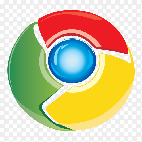 New google chrome icon on transparent background PNG