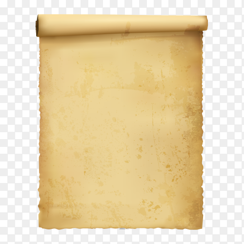 Parchment illustration on transparent background PNG