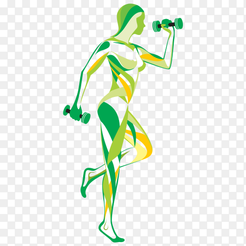 Physical fitness Bodybuilding Sport Icon on transparent background PNG