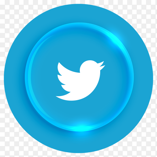 Popular Twitter logotype button premium vector PNG