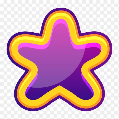 Purple Star illustration on transparent background PNG