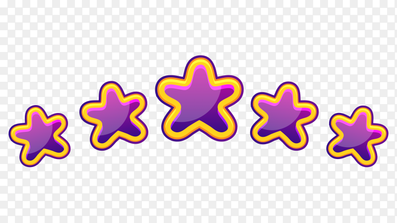 Purple stars illustration premium vector PNG