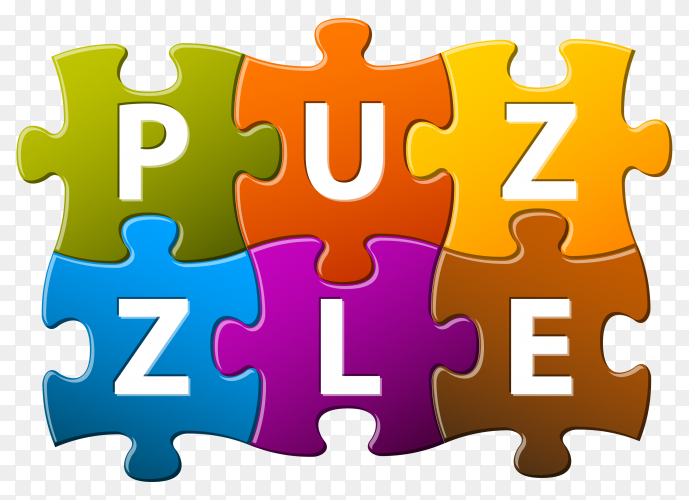 Puzzle cube illustration on transparent background PNG