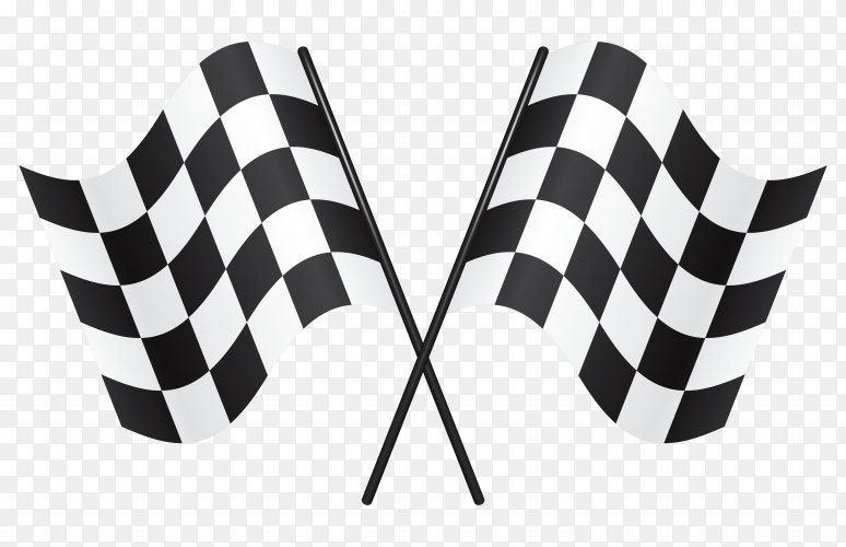 Racing flag illustration on transparent background PNG