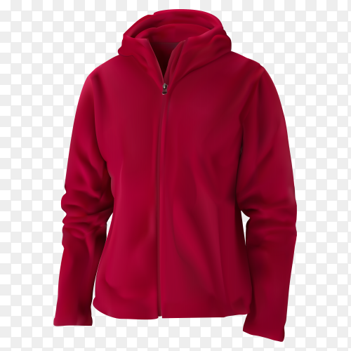 Red sweatshirt illustration on transparent background PNG