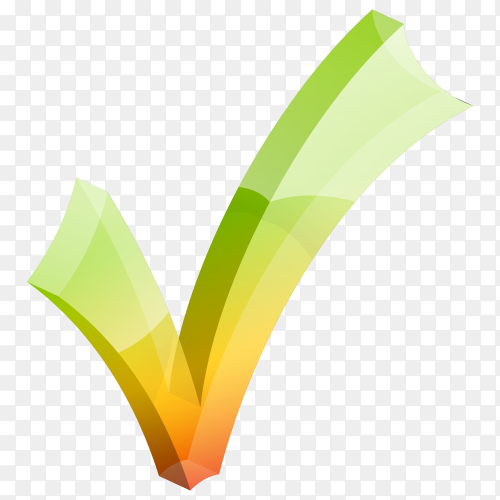 Right check mark on transparent PNG