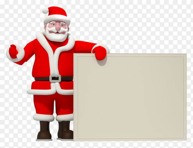Santa calus with invitation frame premium vector PNG