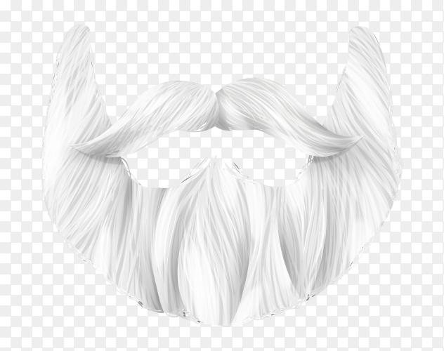 Santa Claus beard illustration on transparent background PNG