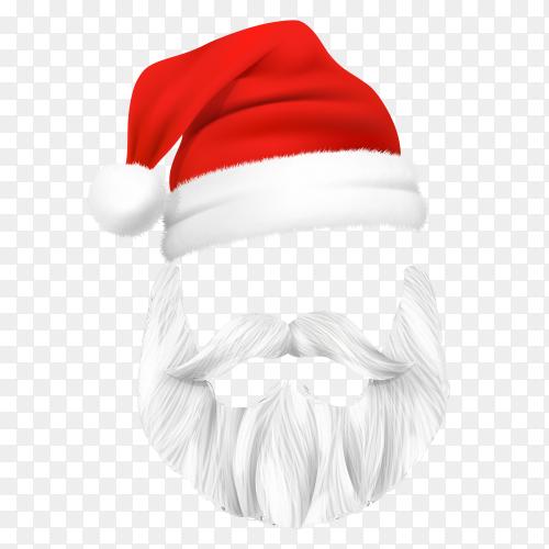 Santa Claus Christmas mask on transparent background PNG