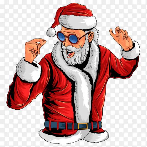 Santa claus Christmas on transparent PNG