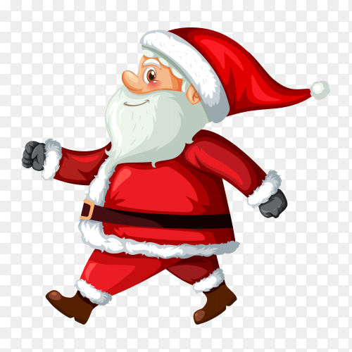Santa Claus illustration on transparent PNG