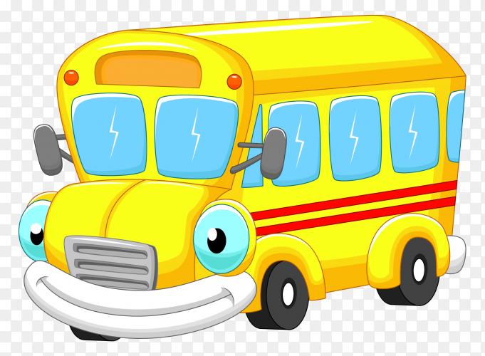 School bus in yellow color premium vector PNG