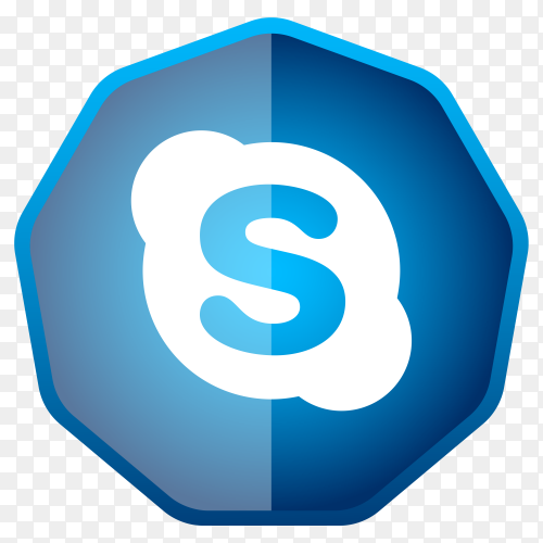 Skype icon button Clipart PNG